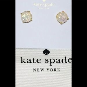 Kate Spade opal glitter earrings NWT!